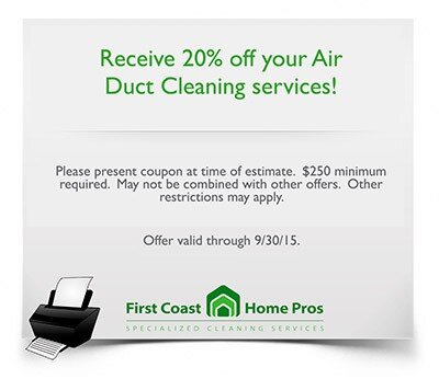 Air Duct Cleaning Jacksonville Fl First Coast Home Pros