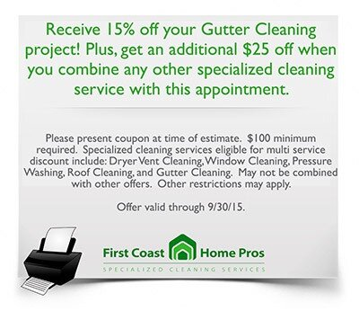Gutter Cleaning Jacksonville Fl First Coast Home Pros