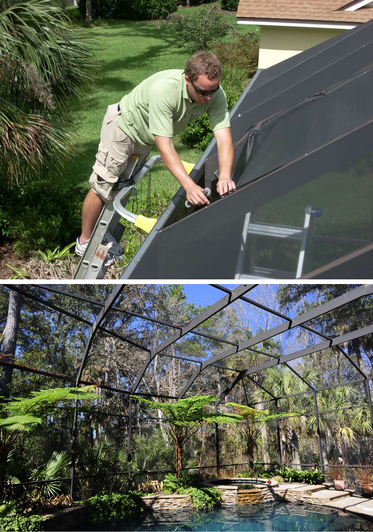 Jacksonville Screen Repair Replacement Services First Coast Home Pros